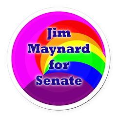 Jim Maynard for Senate Round Car Magnet