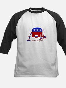 Political Cartoon; Born Again Kids Baseball Jersey