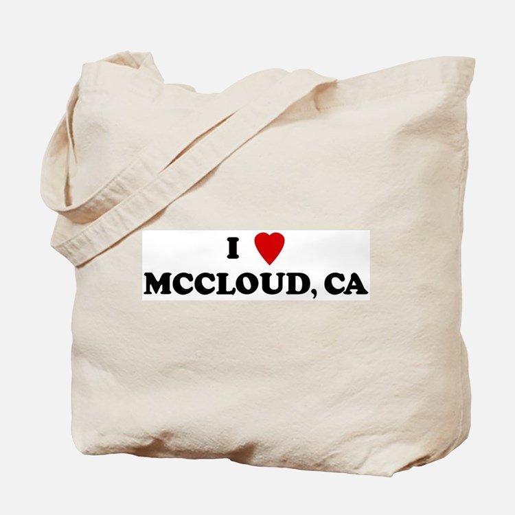 I Love MCCLOUD Tote Bag