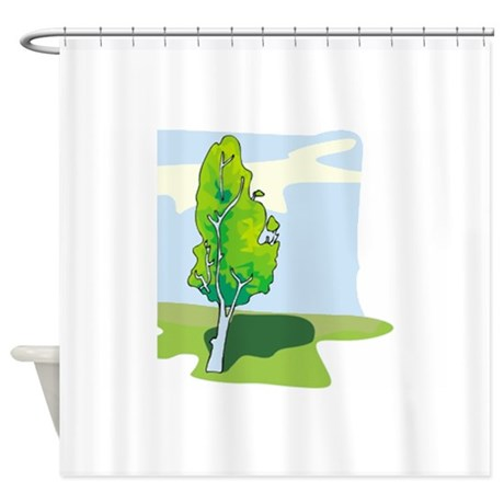 tree shower curtain by graphicdream