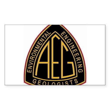 AEG logo Sticker (Rectangle)