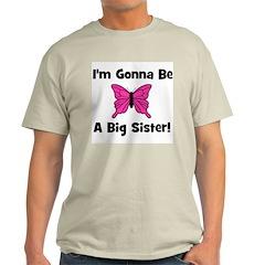 Gonna Be Big Sister (butterfl Ash Grey T-Shirt