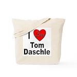I Love Tom Daschle Tote Bag