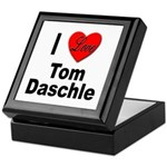 I Love Tom Daschle Keepsake Box