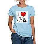 I Love Tom Daschle (Front) Women's Pink T-Shirt