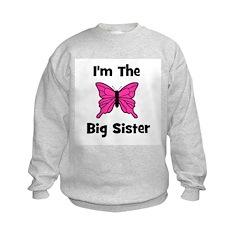 I'm The Big Sister (butterfly Sweatshirt
