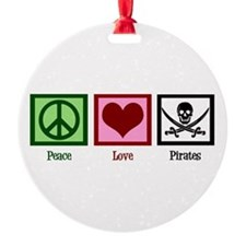 Peace Love Pirates Ornament