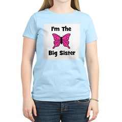 I'm The Big Sister (butterfly Women's Pink T-Shirt