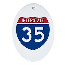 I-35 Oval Ornament
