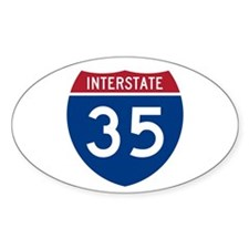I-35 Oval Stickers