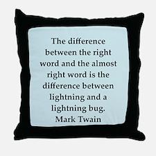twain18.png Throw Pillow