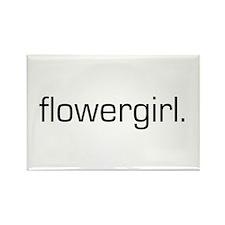 Flowergirl Rectangle Magnet