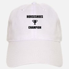 horseshoes champ Baseball Baseball Cap