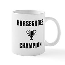 horseshoes champ Mug