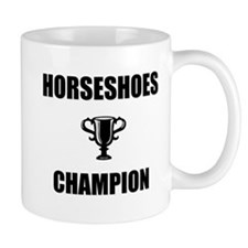 horseshoes champ Small Mug