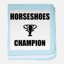 horseshoes champ baby blanket