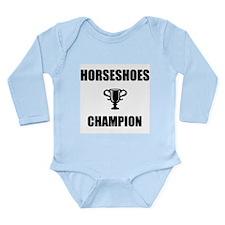 horseshoes champ Long Sleeve Infant Bodysuit