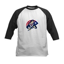 american patriot minuteman flag retro Tee