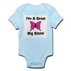 Great Big Sister (butterfly) Infant Creeper