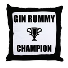 gin rummy champ Throw Pillow