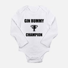 gin rummy champ Long Sleeve Infant Bodysuit