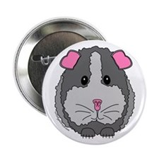 Grey Guinea Pig Button