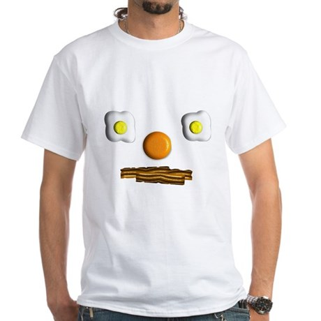 Food Face White T-Shirt