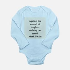 twain3.png Long Sleeve Infant Bodysuit