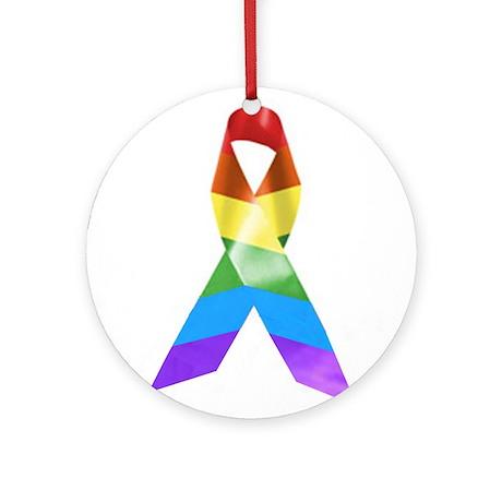 HIV Poz Pride Ribbon Ornament (Round)