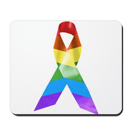 HIV Poz Pride Ribbon Mousepad