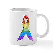 HIV Poz Pride Ribbon Mug