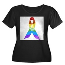 HIV Poz Pride Ribbon T