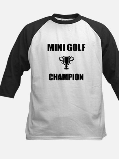 mini golf champ Kids Baseball Jersey