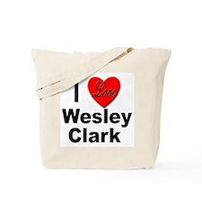 I Love Wesley Clark Tote Bag
