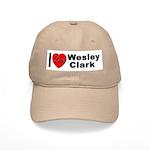 I Love Wesley Clark Cap