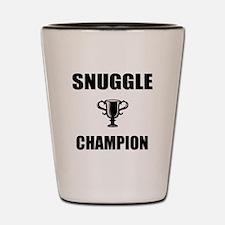 snuggle champ Shot Glass