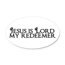 Jesus is Lord Oval Car Magnet