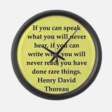 thoreau7.png Large Wall Clock