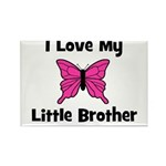Love My Little Brother Rectangle Magnet