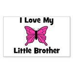 Love My Little Brother Rectangle Sticker