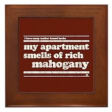 Mahogany Framed Tile