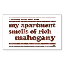 Mahogany Rectangle Decal