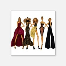 """Fashionable Diva Square Sticker 3"""" x 3"""""""