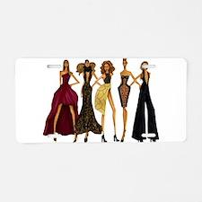 Fashionable Diva Aluminum License Plate