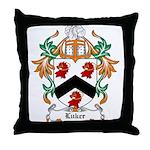 Luker Coat of Arms Throw Pillow