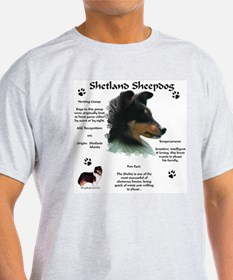 Sheltie 4 Ash Grey T-Shirt