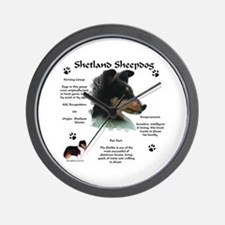 Sheltie 4 Wall Clock