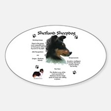 Sheltie 4 Oval Decal