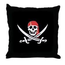 Unique Crossbones Throw Pillow