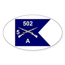 A Co. 5/502 Oval Decal